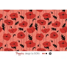 Poppies coral, Modal Lillestoff