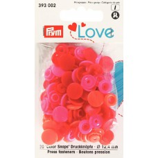 Prym Love Color Snaps lachs-rot-pink