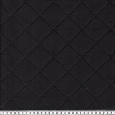 Steppstoff Moskau schwarz 55 cm Reststück