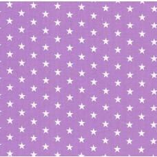 Baumwolle beschichtet Sterne flieder 50 x 70 cm Stück