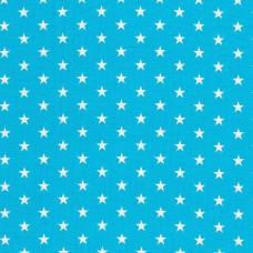 Baumwolle beschichtet Sterne türkis