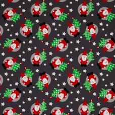 Weihnachtsmann dunkelgrau Kuschelsweat