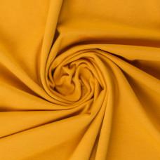 Stretchjersey Senfgelb 50 cm Reststück