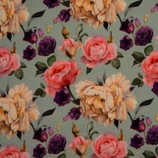 """Jersey """"Matti"""" Blumen mintgrün 80 cm Reststück"""