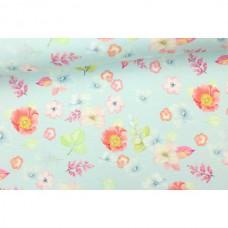Blumenliebe Babyblau Jersey