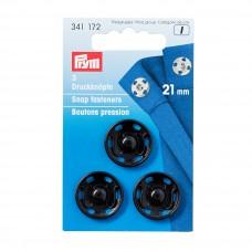 Prym Annäh-Druckknöpfe 21 mm schwarz
