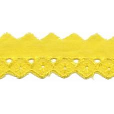 Madeira Spitze gelb 20 mm