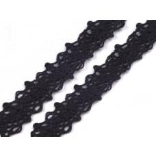 Klöppelspitze 12 mm schwarz