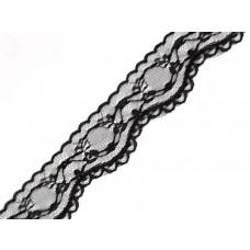 Spitzenband 42 mm schwarz