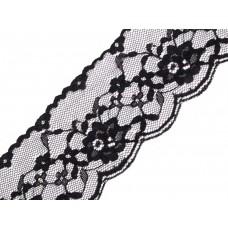 Spitzenband 50 mm schwarz