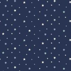 Sternenhimmel dunkelblau Stretchjersey 55 cm Reststück
