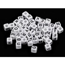 Buchstaben Perlen-Set schwarz-weiß