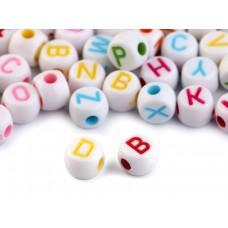 Buchstaben Perlen-Set weiß-bunt