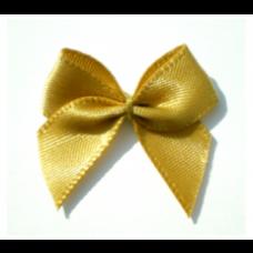 5 Schleifchen 2,4 cm gold