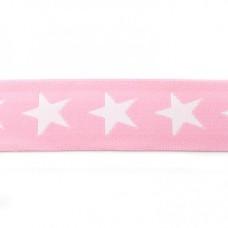 Sternen Gummiband rosa 40 mm