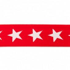 Sternen Gummiband rot 40 mm