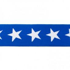 Sternen Gummiband blau 40 mm