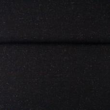 Glitzerbündchen glatt schwarz