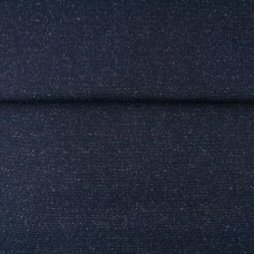 Glitzerbündchen glatt dunkelblau