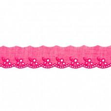 Spitze Blumen pink 42 mm