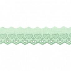 Spitze Herzen altgrün 50 mm