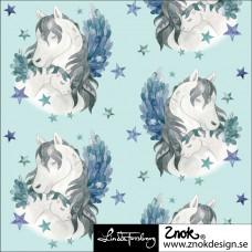 Pegasus blau Stretchjersey