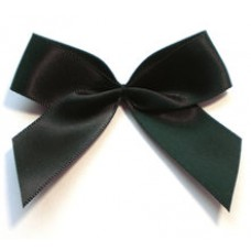 Satin Schleife schwarz 6,5cm