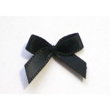 5 Mini Schleifchen schwarz