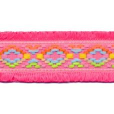 Ibiza Fransenband pink