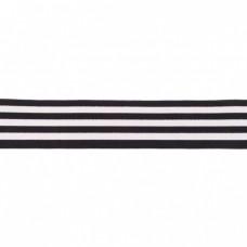 Gummiband Streifen schwarz-weiß 40 mm