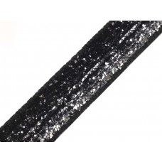 Glitzerband Lurex schwarz