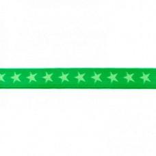Sternen Gummiband grün 20 mm