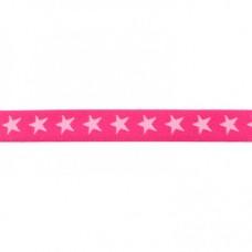 Sternen Gummiband pink 20 mm