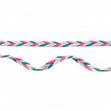 Flechtband mint-rosa