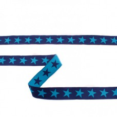Webband Sterne dunkelblau-royalblau