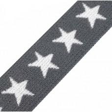 Sternen Gummiband grau 20 mm