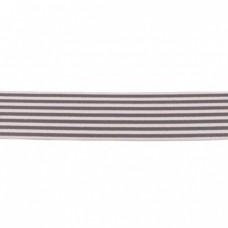 Gummiband Streifen grau 40 mm