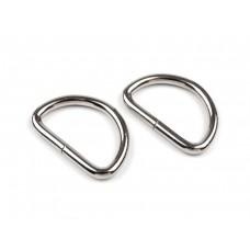 D-Ringe 25 mm silber