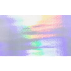 Lederimitat holografisch silber 66 x 45 cm