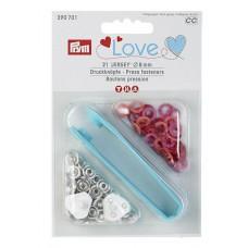 Prym Love Jersey Druckknöpfe 8 mm rot-pink-koralle