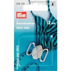 Bikini- und Gürtelverschluss 12mm silberfarbig
