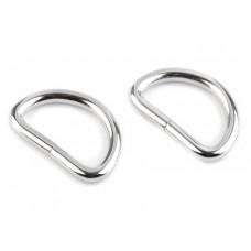D-Ringe 30 mm silber