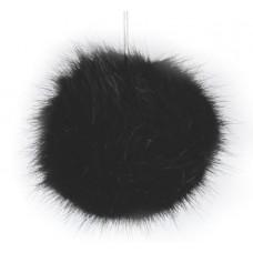Kunstfell Bommel schwarz