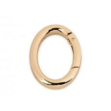 Karabiner oval gold