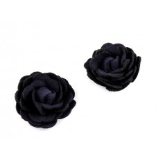 Rose dunkelblau Kunstleder