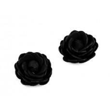 Rose schwarz Kunstleder