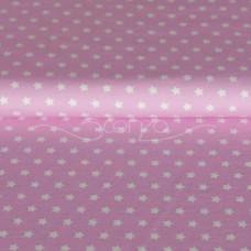 Sterne weiß auf rosa Stretchjersey