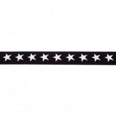 Sternen Gummiband schwarz 20 mm