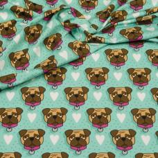 OMG Pink Pug grün Jersey by Hamburger Liebe