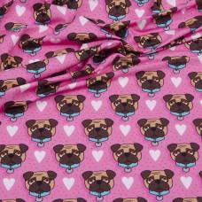 OMG Pink Pug Jersey by Hamburger Liebe